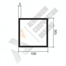 Алюминиевая труба квадратная <br> 100х100х3 - АН 00556 1
