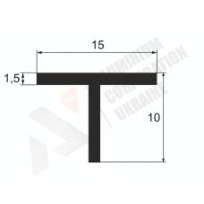 Т-образный профиль (Тавр алюминиевый) <br> 15х10х1.5 - БП 9 1