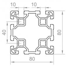 Алюмінієвий верстатний профіль 80х80 - АН 00493 1