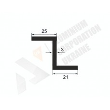 Алюминиевый Z-образный профиль <br> 25х21х3 - АН А-0856-18 1
