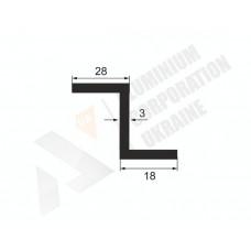 Алюминиевый Z-образный профиль <br> 28х18х3 - АН А-0855-22 1