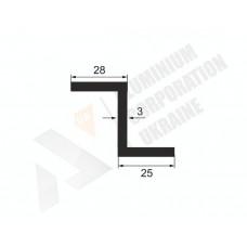 Алюминиевый Z-образный профиль <br> 28х25х3 - АН А-0417-24 1