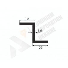 Алюминиевый Z-образный профиль <br> 33х20х3,5 - АН БПО-0325-28 1