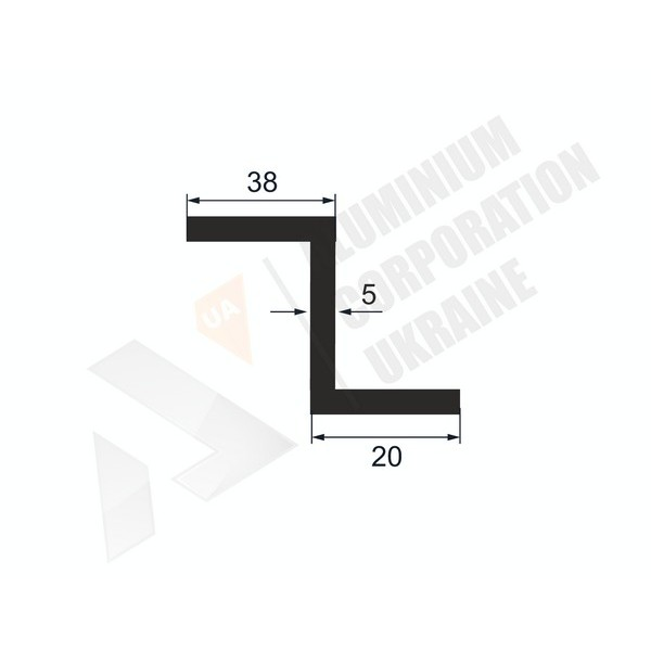 Алюминиевый Z-образный профиль   151х38х20х5 - АН 30-0017