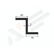 Алюминиевый Z-образный профиль <br> 40х16х3 - АН А-0149-34 1