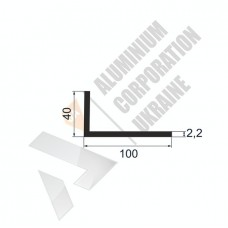 Уголок алюминиевый <br> 100х40х2,2 - АН АВА-1967-788 1