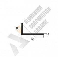 Уголок алюминиевый <br> 120х50х3 - АН 3119-862 1