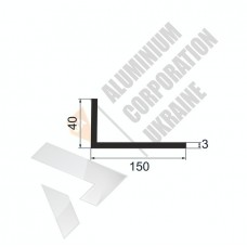 Уголок алюминиевый <br> 150х40х3 - АН МАК-0190-12-903 1