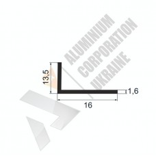 Уголок алюминиевый <br> 16х13,5х1,6 - АН А-2271-30 1