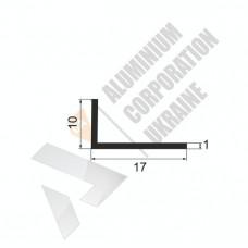 Уголок алюминиевый <br> 17х10х1 - АН АВА-4357-32 1