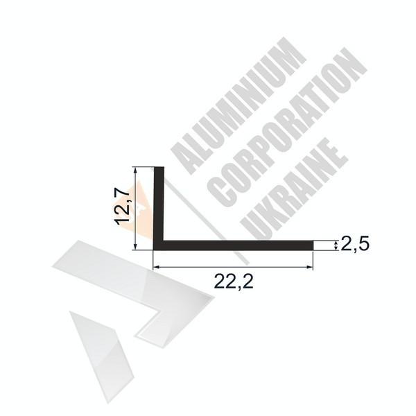 Уголок алюминиевый | 22,2х12,7х2,5 - БП АК-5623-105