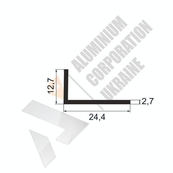Уголок алюминиевый | 24,4х12,7х2,7 - БП АК-5636-111