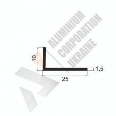 Кутник алюмінієвий <br> 25х10х1,5 - БП 17-0055 1