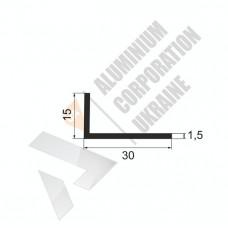 Уголок алюминиевый <br> 30х15х1,5 - БП АВА-1086-197 1
