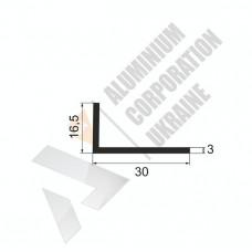 Уголок алюминиевый <br> 30х16,5х3 - АН АК-5643-216 1