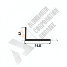 Уголок алюминиевый <br> 34,5х12х1,1 - АН SX-GY2148-289 1