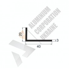 Уголок алюминиевый <br> 40х20х3 - БП 00627 1