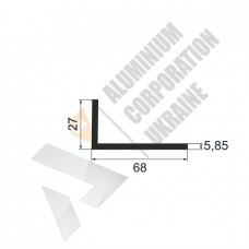 Уголок алюминиевый <br> 68х27х5,85 - АН АВА-2345-673 1