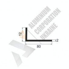 Уголок алюминиевый <br> 80х12х2 - АН АК-5684-706 1