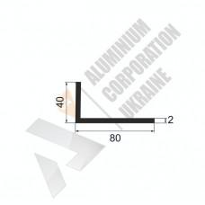 Уголок алюминиевый <br> 80х40х2 - АН БПО-1743-726 1
