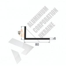 Уголок алюминиевый <br> 80х40х6 - АН A8638-754 1