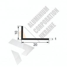 Кутник алюмінієвий <br> 20х10х1 - БП 17-0027 1