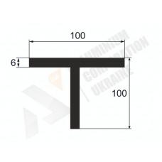 Т-образный профиль (Тавр алюминиевый) <br> 100х100х6 - БП АК-1240-306 1