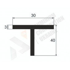 Т-образный профиль (Тавр алюминиевый) <br> 30х40х3 - АН БПО-1648-109 1