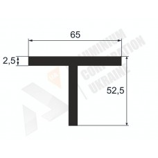 Т-образный профиль (Тавр алюминиевый) <br> 65х52,5х2,5 - АН A3811-242 1