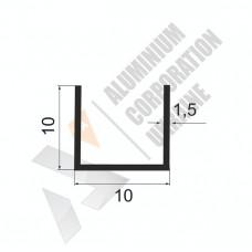 Алюминиевый швеллер П-образный профиль <br> 10х10х1,5 (7мм) - БП 00500 1