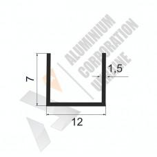Алюминиевый швеллер П-образный профиль <br> 12х7х1,5 (9мм) - БП 27-0044 1
