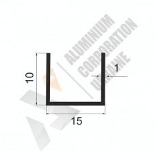 П-образный профиль <br> 15х10х1 (13мм) - БП 00513 1