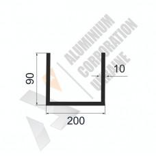 Алюминиевый швеллер П-образный профиль <br> 200х90х10 - АН ОК-105-1013 1