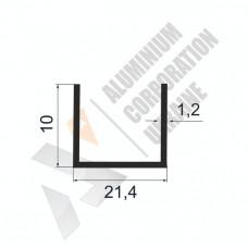 Алюминиевый швеллер П-образный профиль <br> 21,4х10х1,2 - АН БПО-1777-265 1