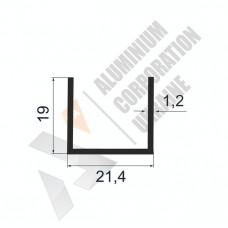 Алюминиевый швеллер П-образный профиль <br> 21,4х19х1,2 - АН БПО-1776-267 1