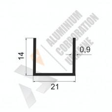Алюминиевый швеллер П-образный профиль <br> 21х14х0,9 - АН АК-100032-261 1
