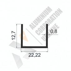 Алюминиевый швеллер П-образный профиль <br> 22,22х12,7х0,8 - АН АК-100035-279 1