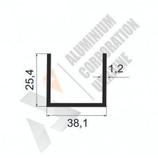 Алюминиевый швеллер П-образный профиль <br> 38,1х25,4х1,2 - АН АК-100062-501 1