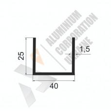 Алюминиевый швеллер П-образный профиль <br> 40х25х1,5 - АН А-2036-531 1
