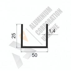 Алюминиевый швеллер П-образный профиль <br> 50х25х1,4 - АН АК-100068-603 1