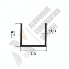 Алюминиевый швеллер П-образный профиль <br> 55х125х6,5 - АН БПЗ-1324-685 1