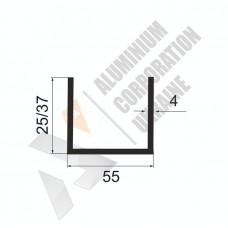 Алюминиевый швеллер П-образный профиль <br> 55х25/37х4 - АН ОК-273-687 1