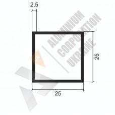Алюминиевая труба квадратная <br> 25х25х2,5 - БП A4072-87 1