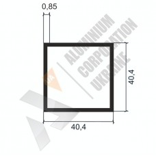 Алюминиевая труба квадратная <br> 40,4х40,4х0,85 - БП АК-2267-182 1