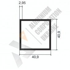Алюминиевая труба квадратная <br> 40,9х40,9х2,95 - БП АК-2268-184 1