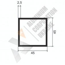 Алюминиевая труба квадратная <br> 42х42х2,5 - БП A8955-186 1