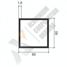 Алюминиевая труба квадратная <br> 60х60х1,8 - АН Б-0536-247 1