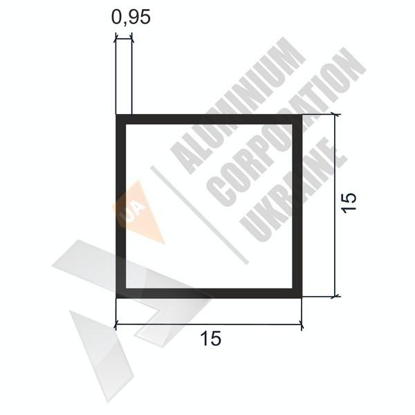 Алюминиевая труба квадратная | 15х15х0,95 - БП 03-0020