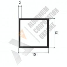 Алюминиевая труба квадратная <br> 15х15х2 - БП АВА-4216-22 1