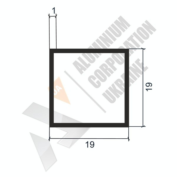 Алюминиевая труба квадратная | 19х19х1 - АН SX-WM1629-51
